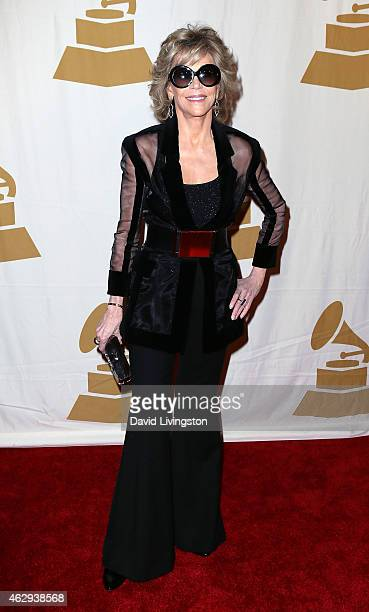 Actress Jane Fonda attends the 57th GRAMMY Awards Special Merit Awards Ceremony at the Wilshire Ebell Theatre on February 7 2015 in Los Angeles...
