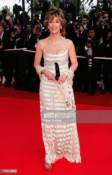 Actress Jane Fonda attends the 60th International Cannes Film Festival closing ceremony and L'Age des Tenebres arrivals at the Palais des Festivals...