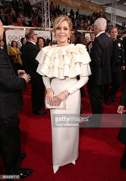 Actress Jane Fonda attends the 73rd Annual Golden Globe Awards at The Beverly Hilton Hotel on January 10 2016 in Beverly Hills California