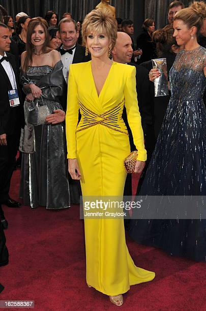 Actress Jane Fonda attends the 85th Annual Academy Awards at Hollywood Highland Center on February 24 2013 in Hollywood California