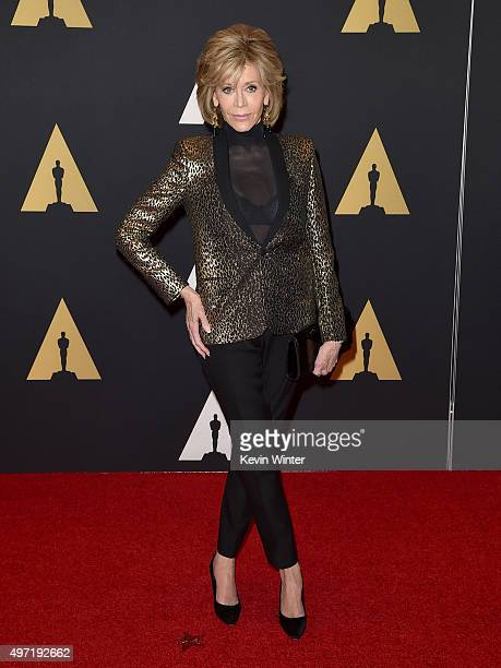 Actress Jane Fonda attends the Academy of Motion Picture Arts and Sciences' 7th annual Governors Awards at The Ray Dolby Ballroom at Hollywood...