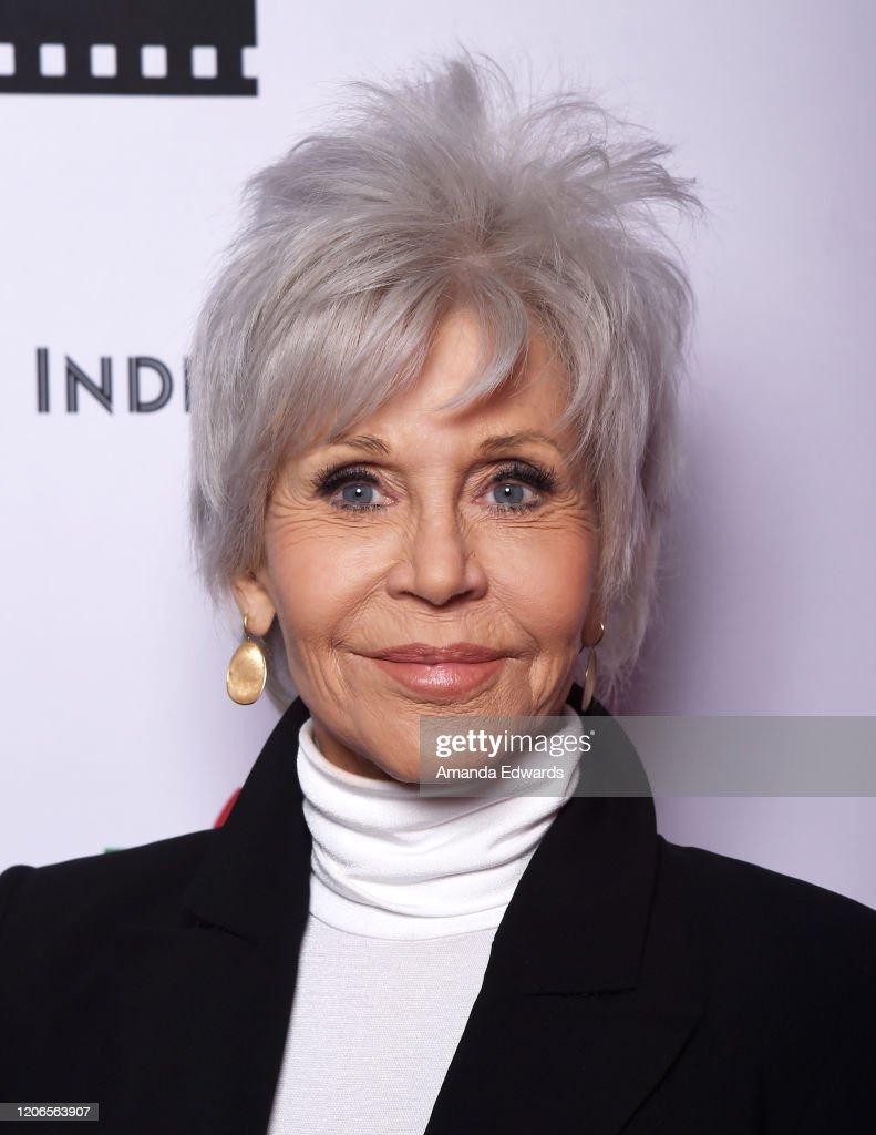"American Cinematheque Hosts New 4K Restoration World Premiere Of ""F.T.A."" with Jane Fonda : News Photo"
