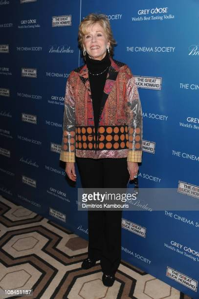 Actress Jane Fonda attends The Cinema Society and Brooks Brothers screening of The Great Buck Howard at the Tribeca Grand Screening Room on March 10...