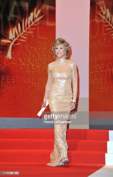 Actress Jane Fonda attends the Closing Ceremony at the Palais des Festivals during the 64th Cannes Film Festival on May 22 2011 in Cannes France