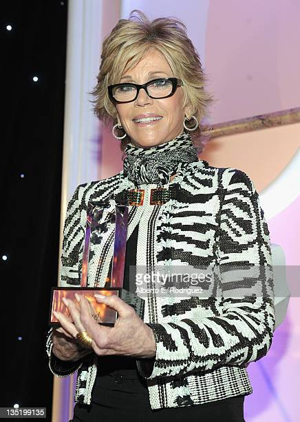 Actress Jane Fonda attends The Hollywood Reporter's Annual 'Power 100 Women In Entertainment Breakfast' at The Beverly Hills Hotel on December 7 2011...