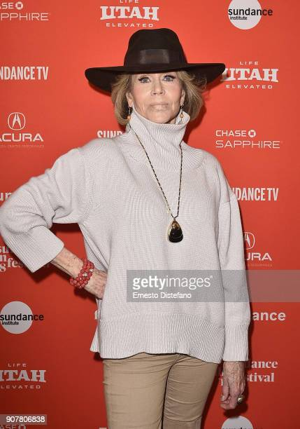 Actress Jane Fonda attends the 'Jane Fonda In Five Acts' Premiere during the 2018 Sundance Film Festival at The Marc Theatre on January 20 2018 in...