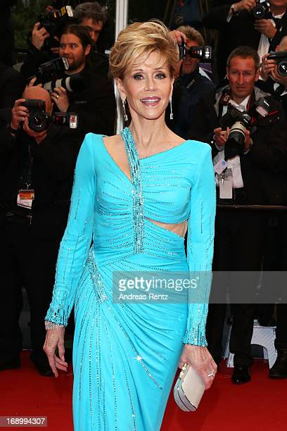 Actress Jane Fonda attends the 'Jimmy P ' Premiere during the 66th Annual Cannes Film Festival at the Palais des Festivals on May 18 2013 in Cannes...