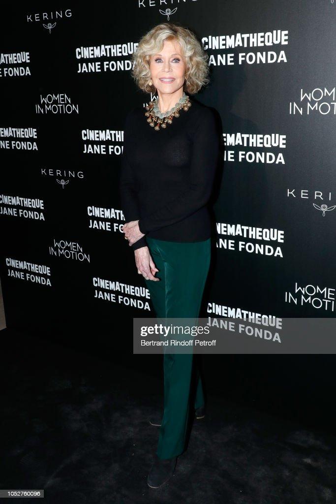 Kering Women In Motion Master Class With Jane Fonda At La Cinematheque Francaise : Nachrichtenfoto