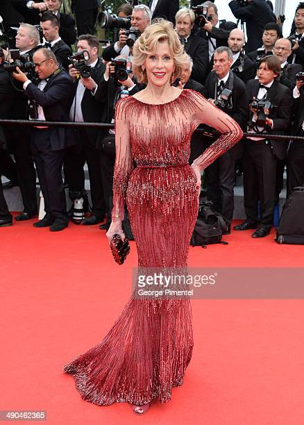 """Actress Jane Fonda attends the opening ceremony and """"Grace of Monaco"""" premiere at the 67th Annual Cannes Film Festival on May 14, 2014 in Cannes,..."""