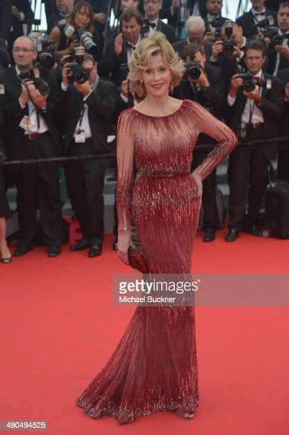 """Actress Jane Fonda attends the Opening ceremony and the """"Grace of Monaco"""" Premiere during the 67th Annual Cannes Film Festival on May 14, 2014 in..."""