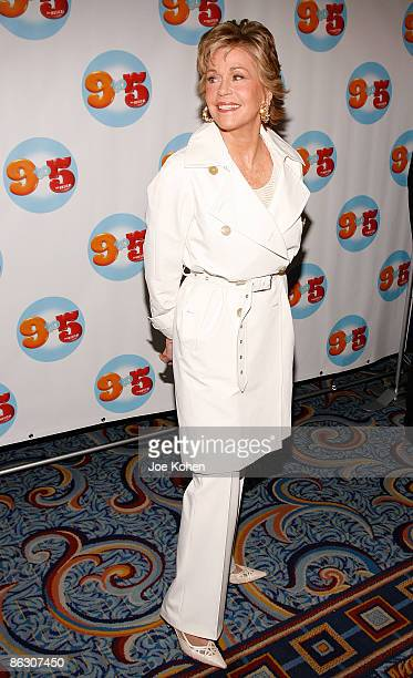 Actress Jane Fonda attends the opening of 9 to 5 The Musical on Broadway at the Marriott Marquis Theatre on April 30 2009 in New York City