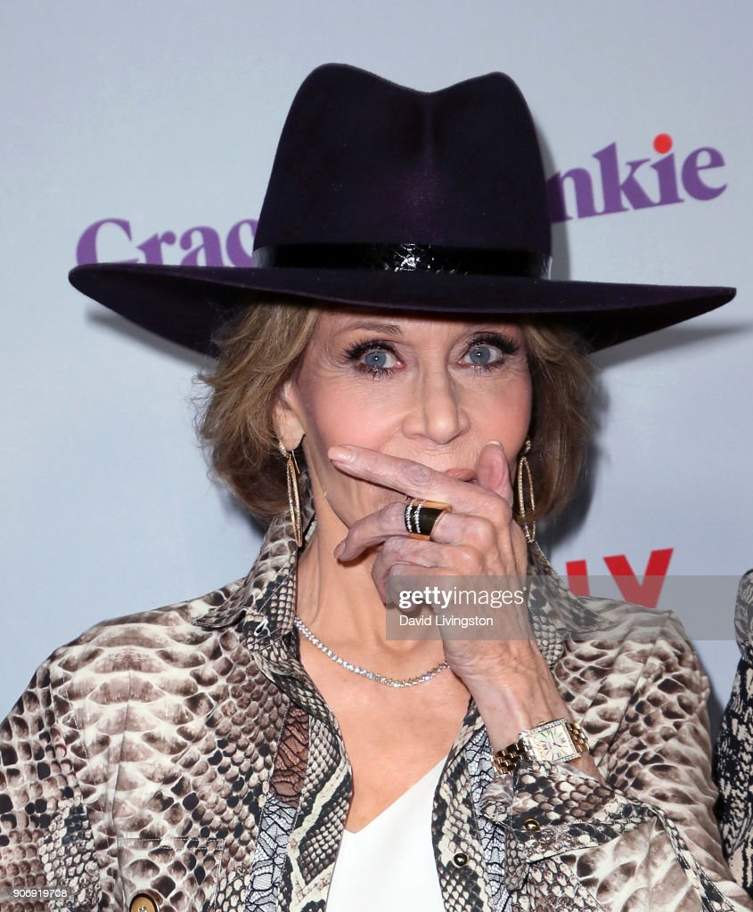 Actress Jane Fonda attends the premiere of Netflix's 'Grace and Frankie' Season 4 at ArcLight Cinemas on January 18, 2018 in Culver City, California.