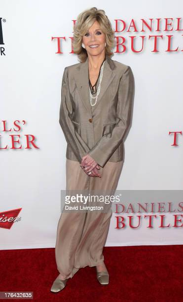Actress Jane Fonda attends the premiere of the Weinstein Company's 'Lee Daniels' The Butler' at Regal Cinemas LA Live on August 12 2013 in Los...