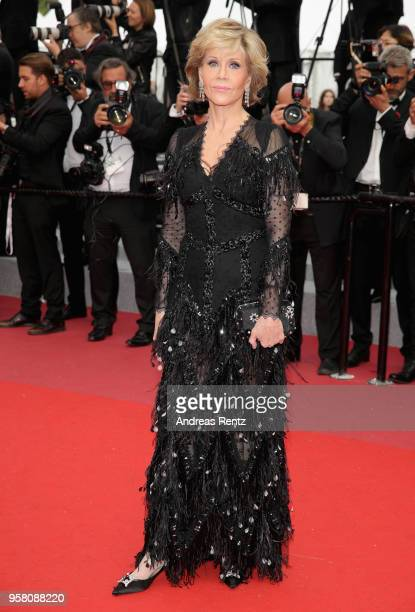 Actress Jane Fonda attends the screening of Sink Or Swim during the 71st annual Cannes Film Festival at Palais des Festivals on May 13 2018 in Cannes...