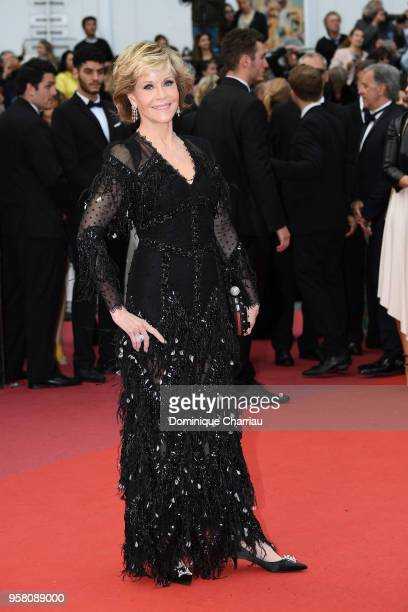 Actress Jane Fonda attends the screening of 'Sink Or Swim ' during the 71st annual Cannes Film Festival at Palais des Festivals on May 13 2018 in...