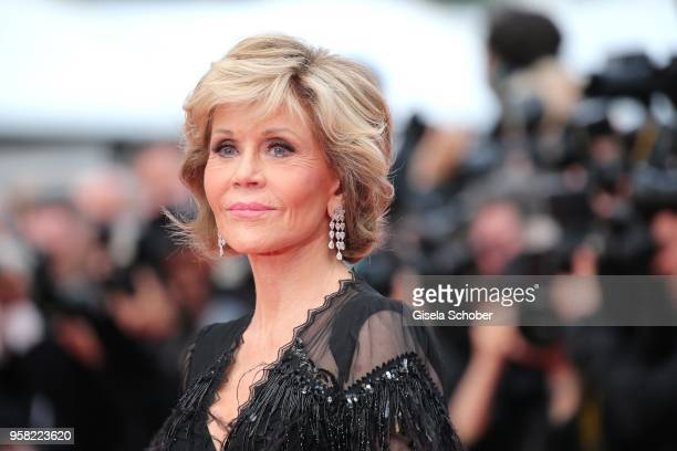 "Actress Jane Fonda attends the screening of ""Sink Or Swim "" during the 71st annual Cannes Film Festival at Palais des Festivals on May 13, 2018 in..."
