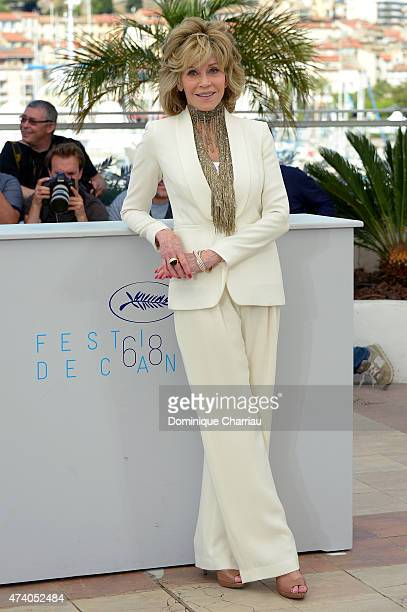 Actress Jane Fonda attends the 'Youth' Photocall during the 68th annual Cannes Film Festival on May 20 2015 in Cannes France