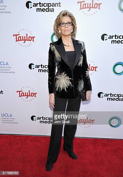 Actress Jane Fonda attends UCLA Institute of the Environment and Sustainability annual Gala on March 24 2016 in Beverly Hills California