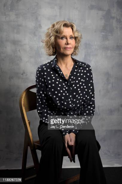 Actress Jane Fonda from 'Grace and Frankie' is photographed for Los Angeles Times on March 16 2019 during PaleyFest at the Dolby Theatre in Hollywood...