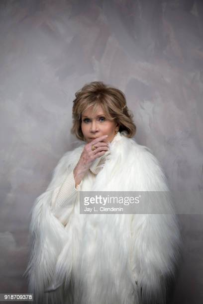 Actress Jane Fonda from the film 'Jane Fonda in Five Acts' is photographed for Los Angeles Times on January 19 2018 in the LA Times Studio at Chase...