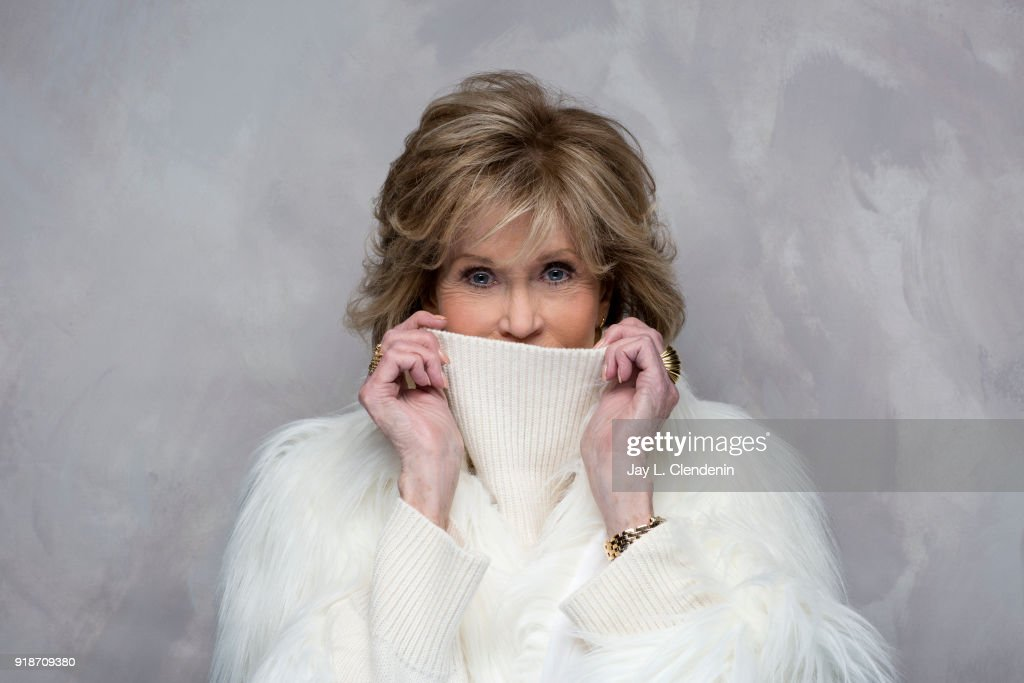 Actress Jane Fonda, from the film 'Jane Fonda in Five Acts', is photographed for Los Angeles Times on January 19, 2018 in the L.A. Times Studio at Chase Sapphire on Main, during the Sundance Film Festival. PUBLISHED IMAGE.