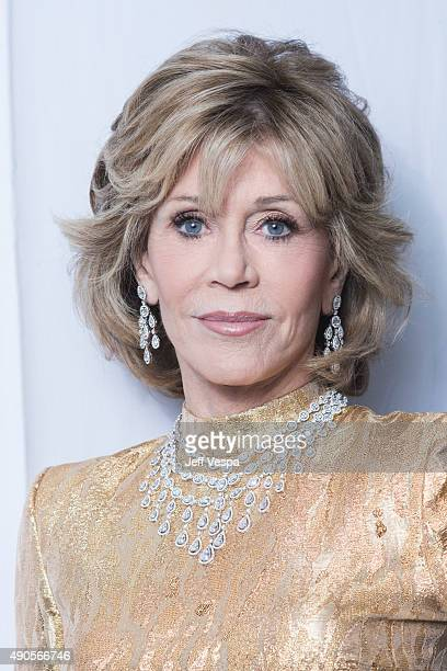 Actress Jane Fonda from 'Youth' poses for a portrait at the 2015 Toronto Film Festival at the TIFF Bell Lightbox on September 15 2015 in Toronto...