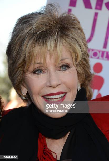Actress Jane Fonda helps kickoff One Billion Rising on February 14 2013 in West Hollywood California