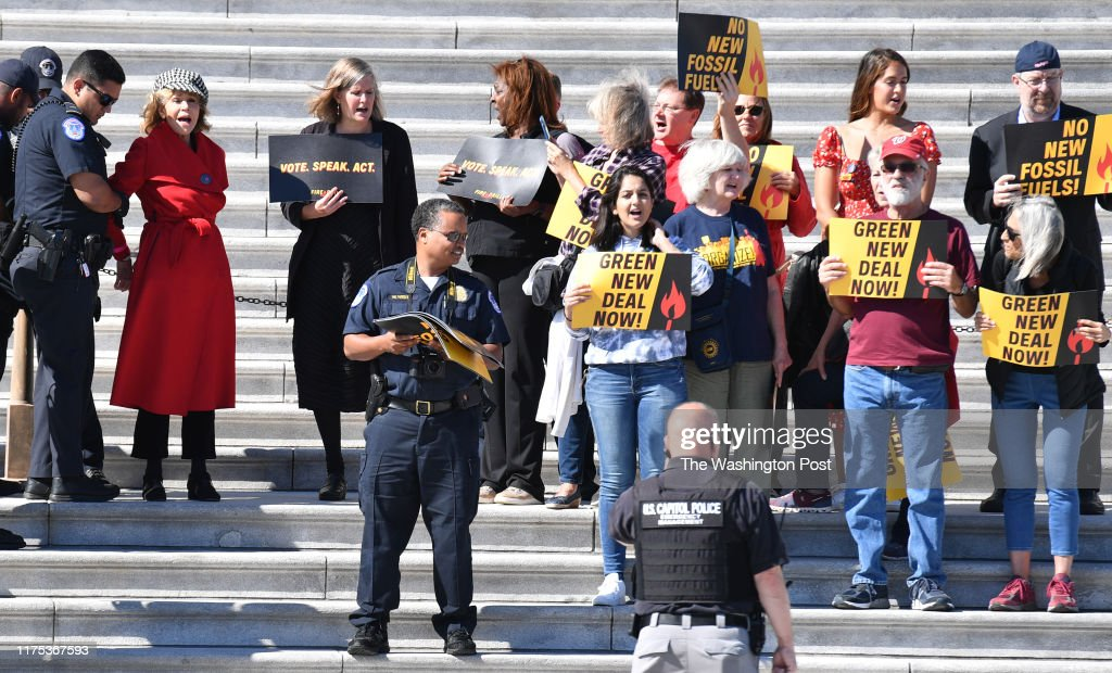 Jane Fonda is Arrested on the East Front of the US Capitol : News Photo