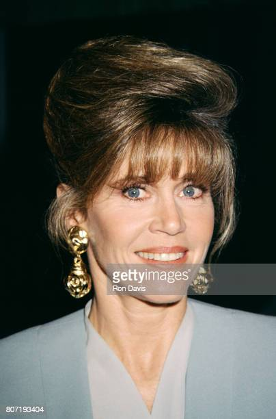 Actress Jane Fonda poses for a portrait as she attends the Katharine Hepburn All About Me Universal City Premiere on January 16 1993 at the Alfred...