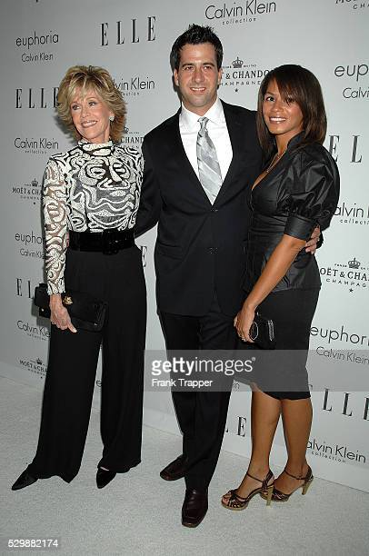 Actress Jane Fonda son and actor Troy Garity and his wife Simone Bent arrive at Elle Magazine 15th Annual Women in Hollywood Tribute held at The Four...