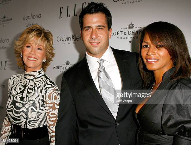 Actress Jane Fonda son Troy Garity and wife Simone Bent arrive to ELLE Magazine's 15th Annual Women in Hollywood Tribute held at The Four Seasons on...