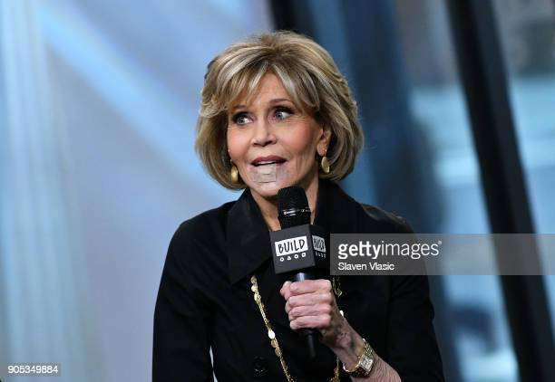 Actress Jane Fonda visits Build Series to discuss Season 4 of Netflix's Grace and Frankie at Build Studio on January 15 2018 in New York City