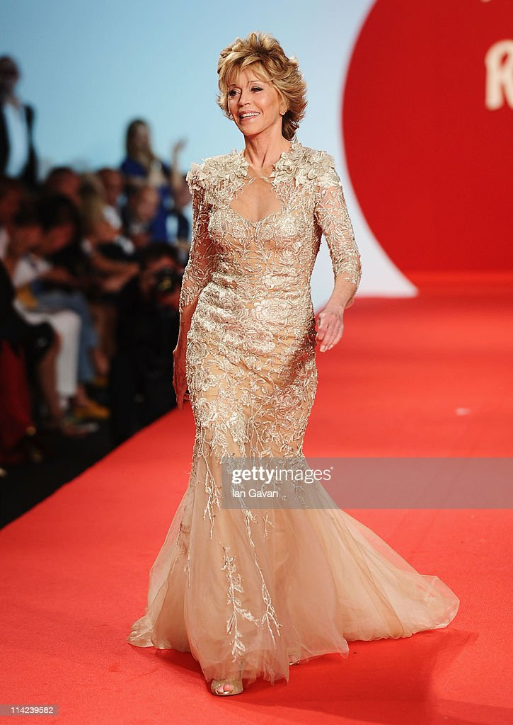 Actress Jane Fonda walks the runway at the Fashion For Relief at Forville market during the 64th Annual Cannes Film Festival on May 16, 2011 in Cannes, France.