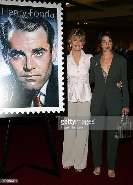 Actress Jane Fonda with her daughter Vanessa Vadim attend the Henry Fonda Centennial Celebration and the US Postal service firstdayofissue ceremony...