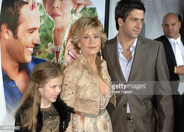 Actress Jane Fonda with son Troy Garity and granddaughter Vassar arrive at the premiere of 'MonsterInLaw' at Mann National Theatre in Westwood This...