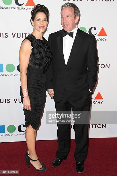 Actress Jane Hajduk and actor Tim Allen attend The Museum Of Contemporary Art Los Angeles Celebrates 35th Anniversary Gala Presented By Louis Vuitton...