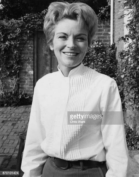 Actress Jane Hilary the leading actress at the Watermill Theatre a professional repertory theatre in Bagnor Berkshire UK September 1968