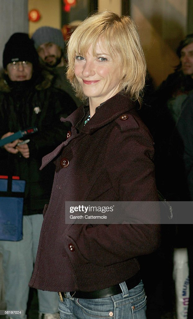 Actress Jane Horrocks arrives at the UK Premiere of 'Stoned' at the Apollo West End Cinema on November 17, 2005 in London, England. The British film chronicles the life and death of Rolling Stones co-founder Brian Jones, found drowned just weeks after being released from the band.