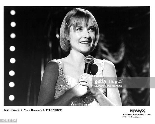 Actress Jane Horrocks on the set of the Miramax films movie Little Voice circa 1998