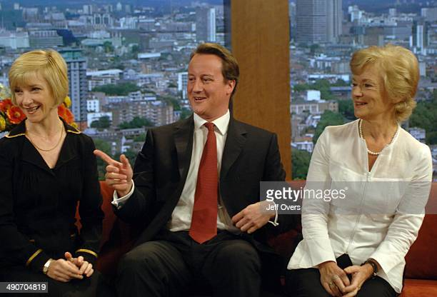 Actress Jane Horrocks with Conservative Party leader David Cameron and Glenys Kinnock are interviewed by Andrew Marr for the Television programme...