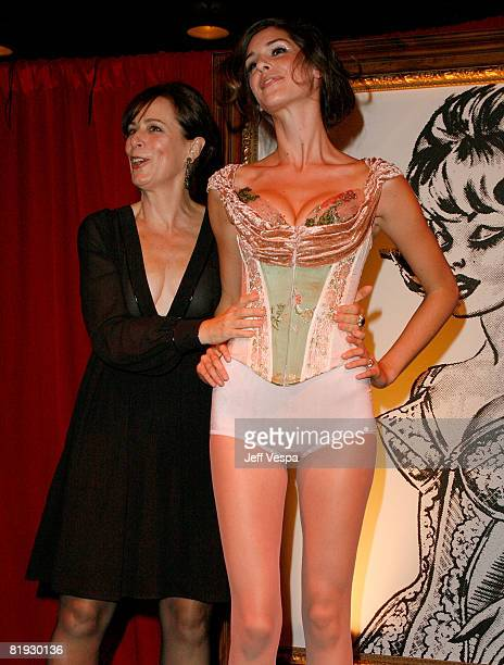Actress Jane Kaczmarek and a Model at the Fredericks of Hollywood Auction to Benefit Clothes Off Our Backs at the Fredricks of Hollywood store on...