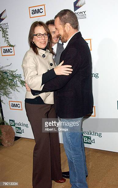 Actress Jane Kaczmarek and actor Bryan Cranston arrive at the Premiere Screening of AMC's new Sony Pictures' Television drama Breaking Bad held on...