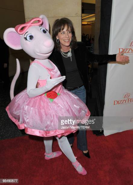 Actress Jane Kaczmarek and Angelina Ballerina arrive at the Dizzy Feet Foundation's Inaugural Celebration of Dance at The Kodak Theater on November...
