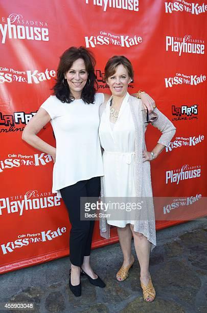 Actress Jane Kaczmarek and her guest arrive at Pasadena Playhouse opening night for 'Kiss Me Kate' at Pasadena Playhouse on September 21 2014 in...