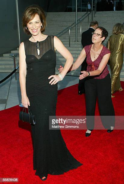 Actress Jane Kaczmarek arrives at the opening night gala of the Los Angeles Philharmonic at the Walt Disney Concert Hall September 29 2005 in Los...