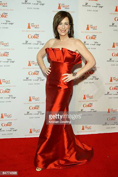 Actress Jane Kaczmarek poses backstage at the Heart Truth Red Dress Collection 2009 fashion show during MercedesBenz Fashion Week at The Tent in...