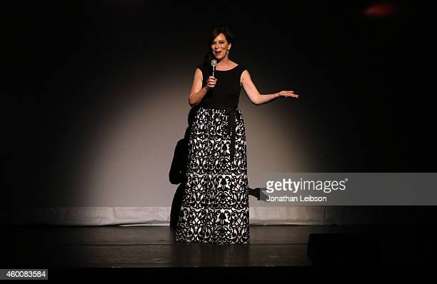 Actress Jane Kaczmarek speaks onstage during The Music Center's 50th Anniversary Spectacular at The Music Center on December 6 2014 in Los Angeles...