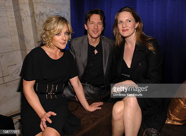 Actress Jane Krakowski actor Andrew McCarthy and Dolores Rice attend Conde Nast Traveler's 2008 Reader's Choice Awards at the New York Public Library...