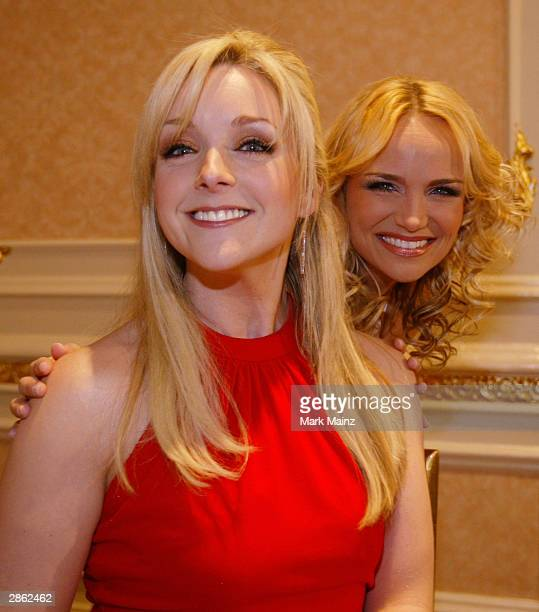 Actress Jane Krakowski and Kristen Chenoweth attend the Manhattan Theatre Club's Annual Winter Benefit on January 12 2004 at the Plaza Hotel in New...