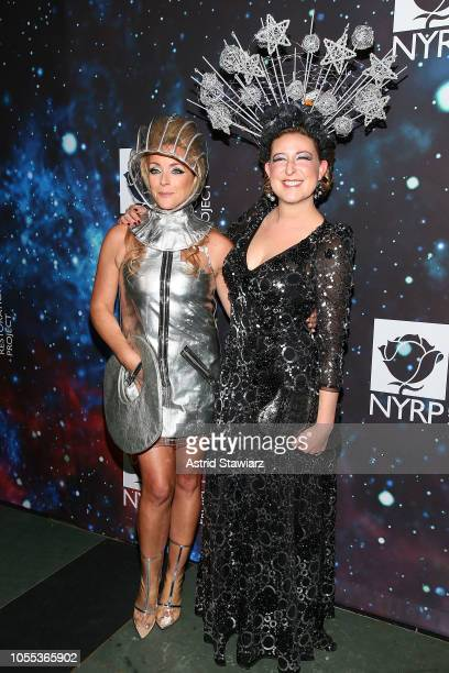 Actress Jane Krakowski and Sophie von Haselberg attend Bette Midler's New York Restoration Project Hosts 22nd Annual Hulaween Event at Cathedral of...